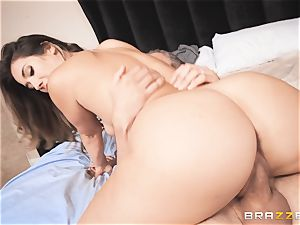 Eva Lovia takes that thick German pipe deep inwards her