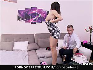 porn ACADEMIE Lana Rhoades enjoys boinking French fuckpole
