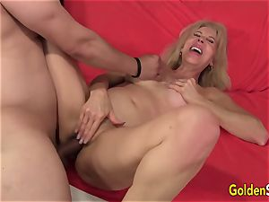 bitchy grandma Erica Lauren Gets Her Mature muff Eaten and nailed