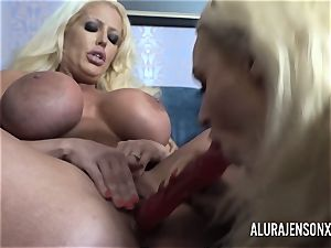 Alura and her chesty girly-girl buddy Dolly get kinky