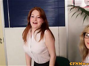 CFNM ginger female domination abase boss in office
