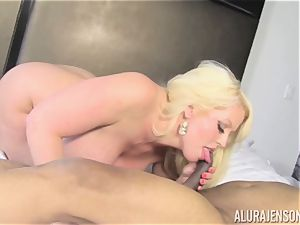 Lusty Alura Jenson tries the trunk of her martial arts schoolteacher