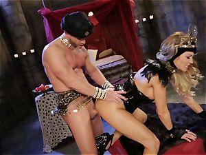 Mean goddess Jessica Drake in torrid pounding parody