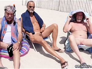 two senior folks youthfull damsel Staycation with a mexican sweetie