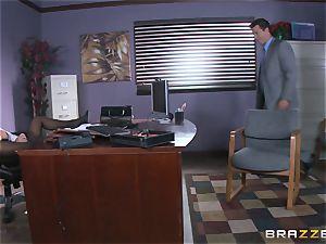 Eva Angelina gets her bosses enormous weenie via her desk