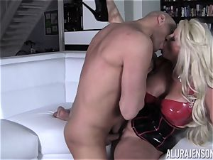 naughty Alura Jenson flashes her hubby a fresh side of her