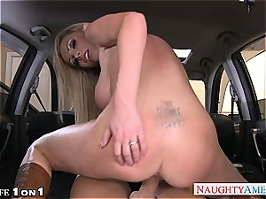 big-boobed housewife Nikki Benz take fuckpole in point of view