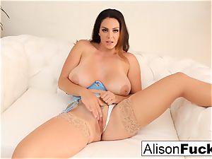 Alison Tyler massages her honeypot