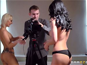 Shalina Devine and Celine chick boned by the camerist