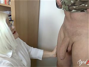 AgedLovE Lacey Starr plumbing rock hard with Soldier
