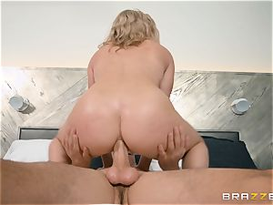 naughty light-haired Cory chase wedged in her pussyhole and pucker