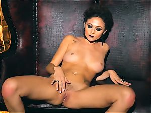 slender puny Ariana Marie marvelous rubber solo getting off
