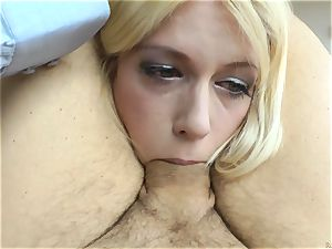 splendid blonde succulent Cat pov with Rocco Siffredi