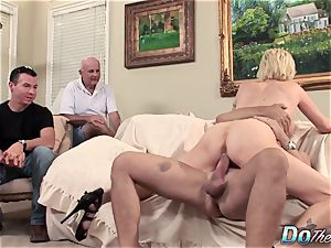 husband sees wifey Kasey Grant buggered