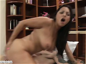 busty mature latina railing a young boy's penis