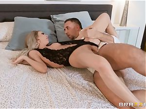 Aiden Ashley drooling on a thick knob