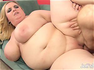 platinum-blonde plus-size Nikky hornier penetrates an aged fellow