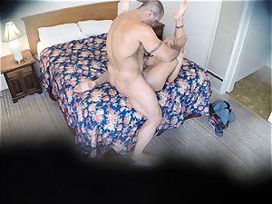 mischievous Nina Elle plumbs her stud at the motel
