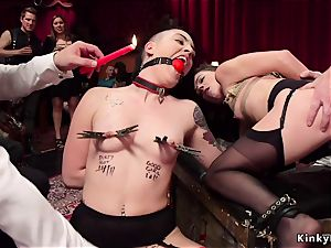 dual lash and assfuck screw at swingers party