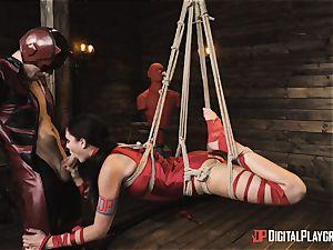 mischievous superhero sex with Ariana Marie and Xander Corvus