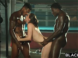 BLACKED Tori dark-hued Is lubricated Up And dominated By two BBCs