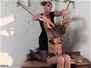 Kathia Nobili and C J stunner cording of hands