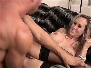 Brandi love penetrates a dude in classy dress