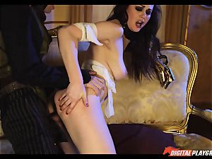 Tina kay has humungous load on her magnificent ultra-cute face from frankenstein