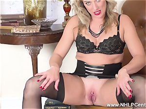blondie finger plows raw vagina in girdle antique nylons