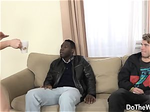 brown-haired wifey buttfucked by big black cock