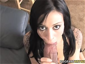 Vanessa super-naughty smashes big black cock In Front Of Her cheating bf