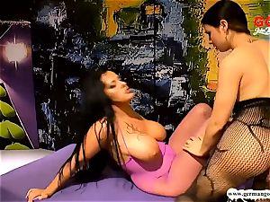 Ashley jizm star and Mira cheating trained drill damsels