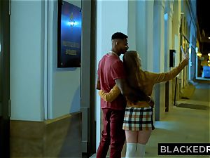 BLACKEDRAW dark haired babe Gets humped Senseless By domineering big black cock