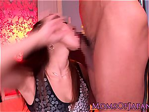 asian mama grinds her beaver on his face