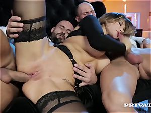 Russian female Anna Polina gets dual foray at the entrance to the club