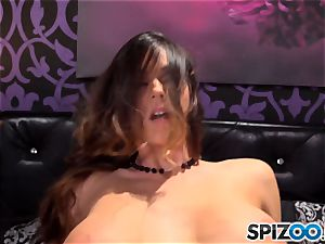 Spizoo-Watch Alison Tyler humping a hefty pecker thick knockers