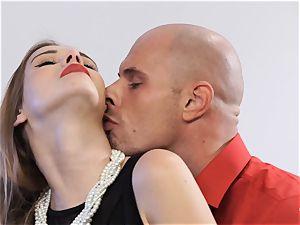 PINUP lovemaking - stellar Czech honey Alexis Crystal in super-fucking-hot plumb