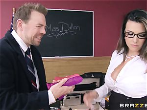 sizzling schoolteacher Danica Dillan smooths things over
