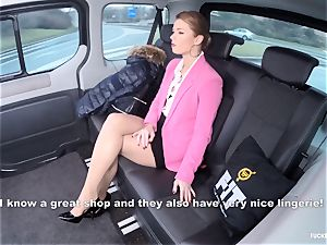 humped IN TRAFFIC - super-hot Czech honey porked in the car