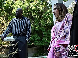 fabulous bored wifey hotwife spouse with a black boy