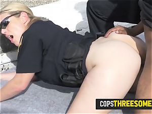 pervert is subdued into tucking mummy cops coochie deep on a rooftop
