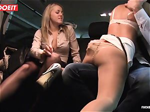 LETSDOEIT - naughty BFFs seduce and plumb Czech Driver