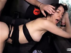 donks BUS - super-hot rock-hard ass-fuck in the van with German fledgling