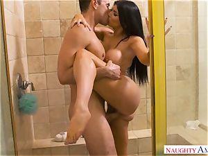 super hot passionate Latina Romi Rain tempts her sisters's hubby