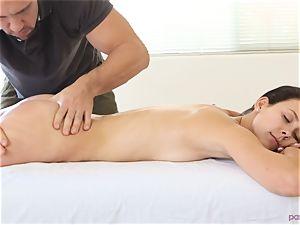 Alaina Kristar pounded by her hunky masseuse