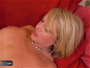 AgedLove nice platinum-blonde grandmother is penetrated by mischievous stud