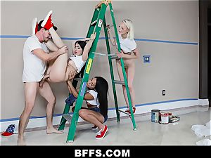 BFFS - Besties bang Handyman Instead of Paying