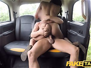 fake cab hasty fuckin' and internal ejaculation for peachy arse