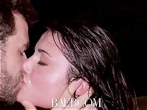 BAEB Pool pummel and facial with honey Adria Rae