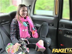 faux cab european lady humped with rock firm penis facial